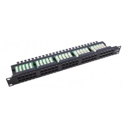 Patch Panel con bandeja 50...